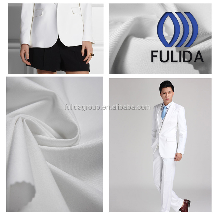 white spandex viscose nylon fabric for man and woman's suitting