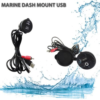 RV ATV UTV Stereo Radio USB AUX Marine Dash Mount Radio USB AUX Extension Cable Adapter