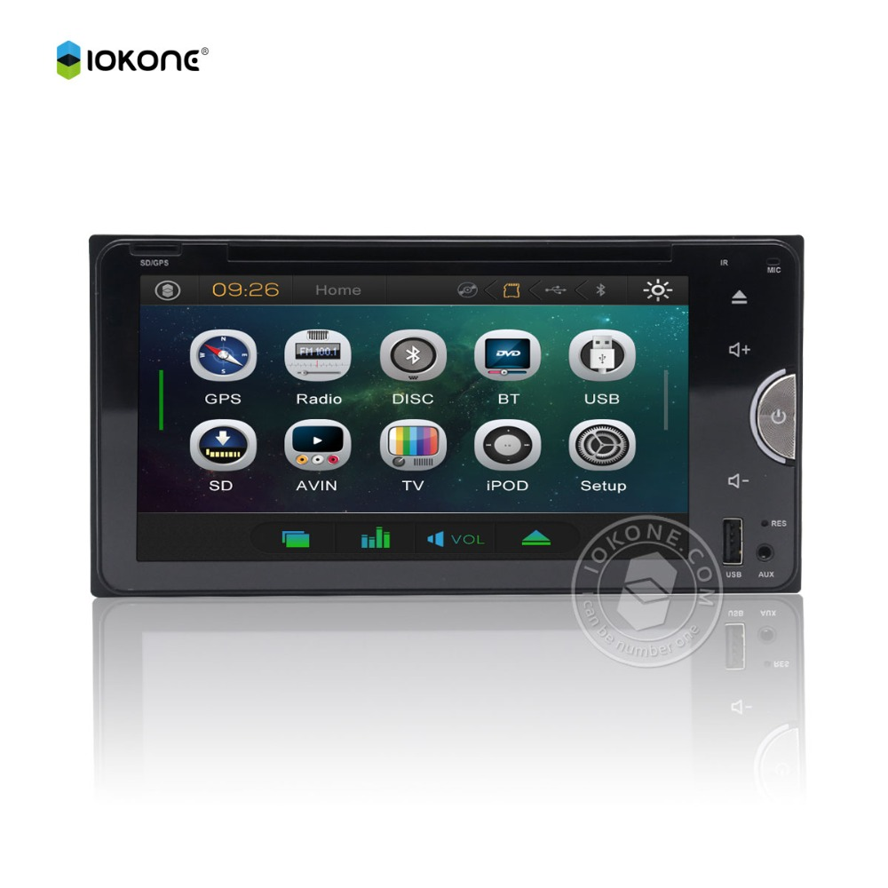 Hot Sale WINCE 6.0 In Dash DVD Player With Radio,BT,DTV, Double Din Car Stereo