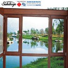 aluminium composite wood two ways opening tilt turn window