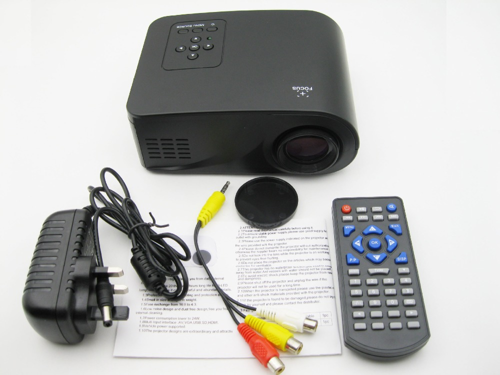 X6 <strong>Projector</strong> 800 Lumens 1080P Full HD LED <strong>Projector</strong> Contrast Ratio 500:1 Projection with HDMI VGA AV Port