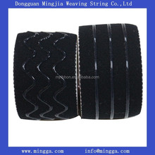 wide black woven custom elastic strap