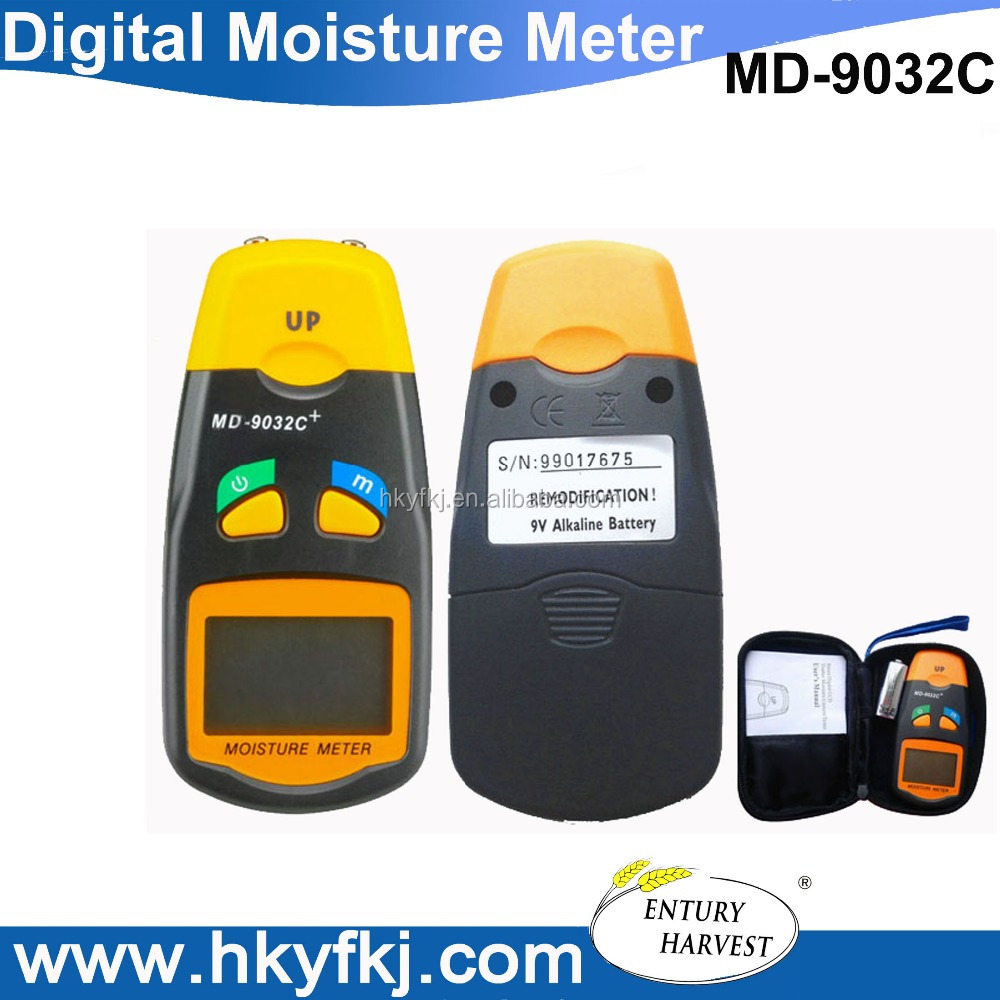 Digital led wood moisture meter 2 pin probe paper humidity tester