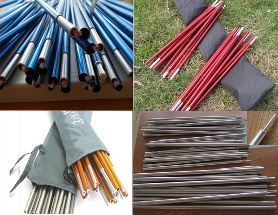 Colored tent pole anodized aluminum for military camping tents for sale