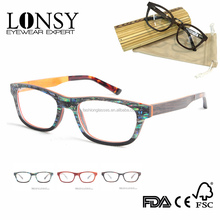 Natural Shell Eyewear Frame Laminated Wood Eyeglasses Frame Reading Optical Glasses LS2926-C1