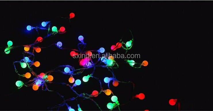 100pcs/lot wholesale 10m 100 bulbs colour changing LED round ball battery pack for christmas lights