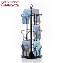 Custom metal rotating card and bookmark display stand for bookstore
