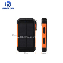 Shenzhen Factory price 2017 outdoor 5000 mah Dual-USB Waterproof Solar Power Bank Battery Charger for Cell Phone