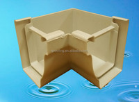 Hot selling plastic rain water gutter,pvc rain gutter fittings with low price