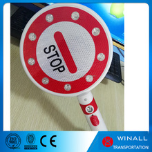 stop sign hand held led traffic cone warning light signal sign for sale