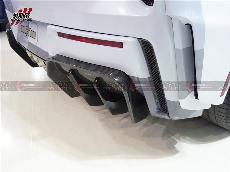 Carbon Fiber Rear Diffuser For 2014-2015 Chevrolet Corvette C7 BKSS Style Rear Lip Bumpers