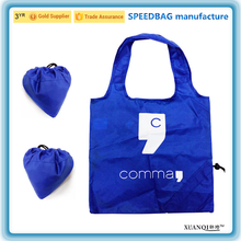 promotion recycle 210D polyester strawberry drawstring foldable shopping bag for market