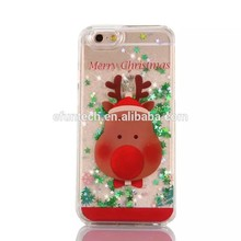 Factory OEM plastic shining glitter Christmas mobile phone case for iphone 5 5s SE case