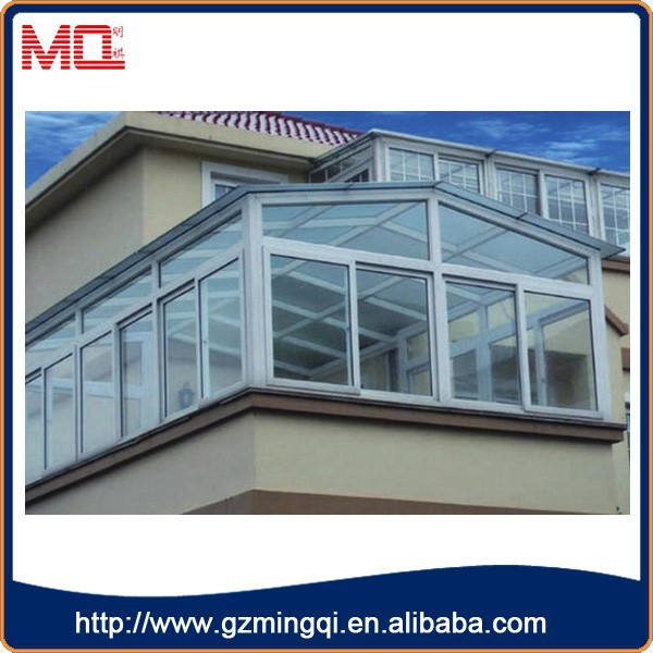 Upvc frame side sliding movable container house window
