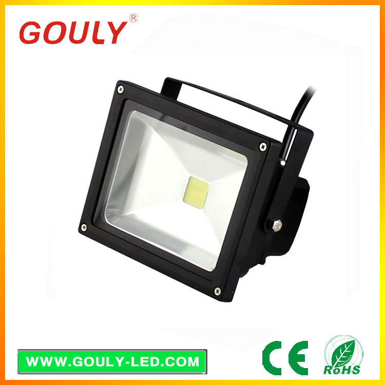 20w led street light slim black led pir floodlight