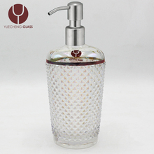 Wholesale customized glass dispenser hand soap bottle hotel bathroom set accessories