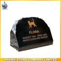 Haobo Stone Black Granite Pet Memorial Marker