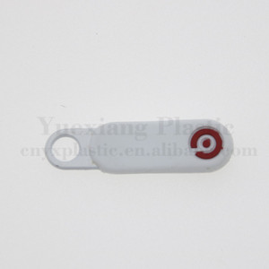 Custom silicon zip pullers waterproof pvc plastic zipper slider replacement for clothes jacket