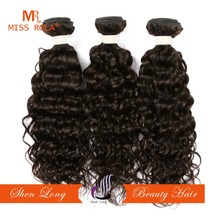 Human Hair Material Water Wave Bulk Extension Type indian remy temple hair