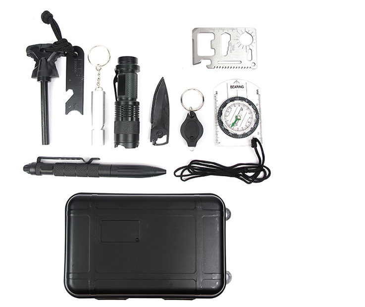 Popular and portable emergency survival kit with water-proof metal box