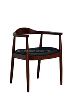 Solid Wood Armchair leather chair vintage Dining Chair