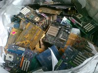 Scrap from waste electric and electronic