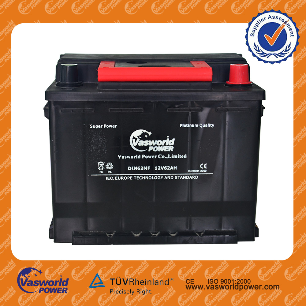 indonesia battery 12V62Ah DIN 56221MF Korea quality Lead Acid Maintenance Free Car Battery