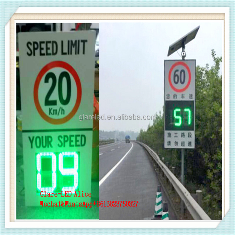 Radar Controlled Speed Signs