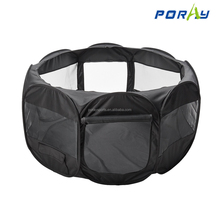 Black dog playpen for pets with Pop up Mesh Kennel Fence Tent Soft Sided Cage