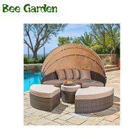 Hot Sale Rattan Sunbed Outdoor Round