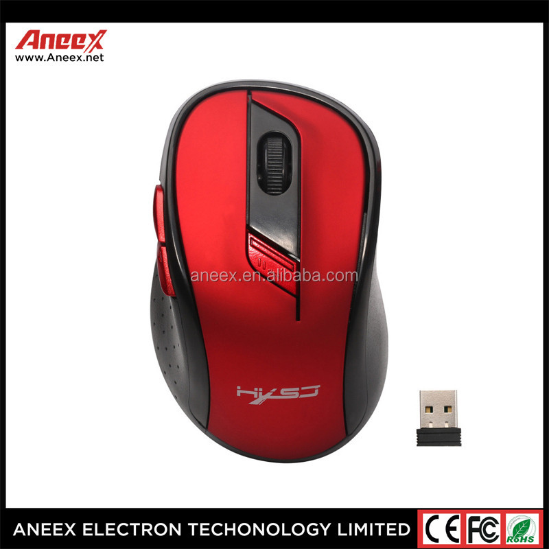Ultra Thin USB Receiver 2.4G Optical Wireless Mouse