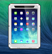 New Arrival 2015 Love Mei Waterproof Shockproof Case Gorilla Glass Metal Case For iPad 2/3/4