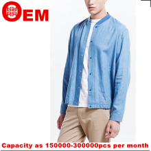mens light blue denim bomber jacket regular fit bomber jacket guangzhou supplier