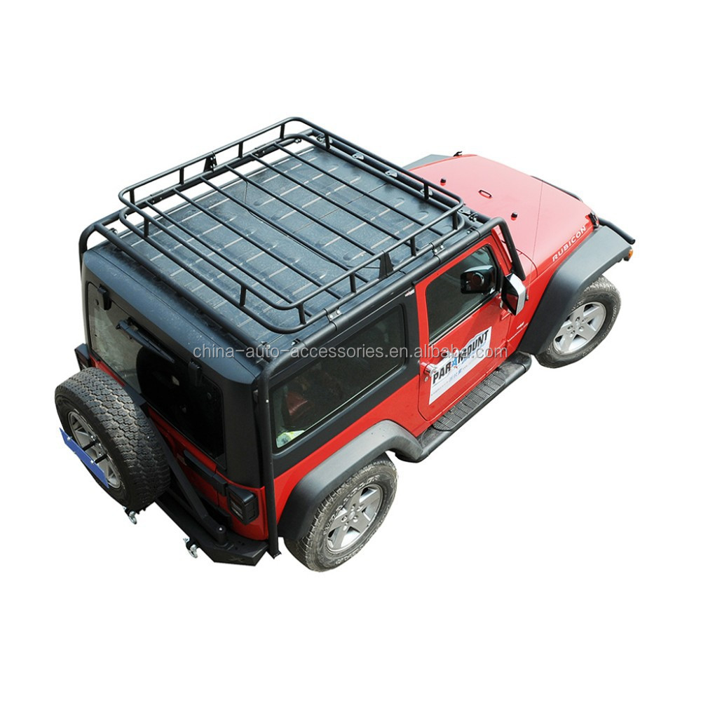 "07-15 Jeep Wrangler JK Jamboree Rack (2 Door) w/ Cargo Basket (55""X57"")"