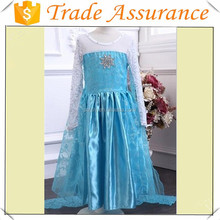 Hot sale high quality children's elsa costume princess dress for kids ,elsa princess cosplay costume in frozen