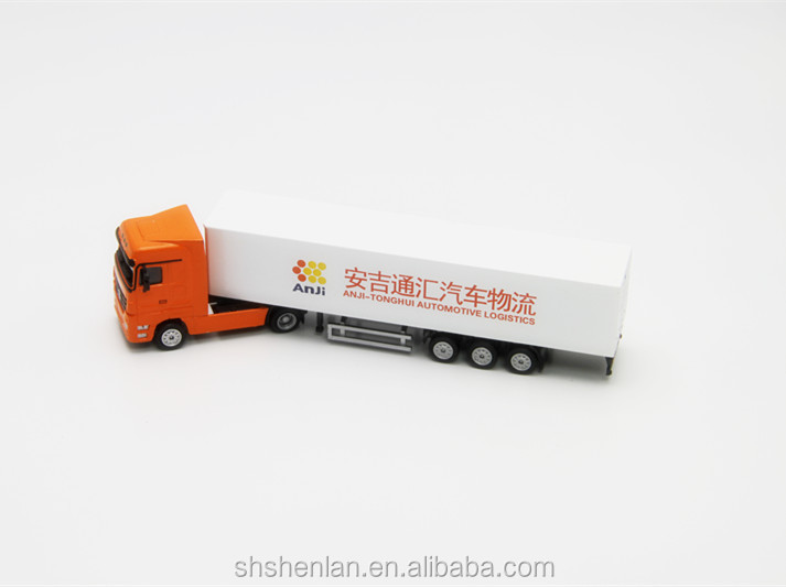 Mini die cast scale 1:87 truck toy custom made, 7.87 inches long, promotional gifts