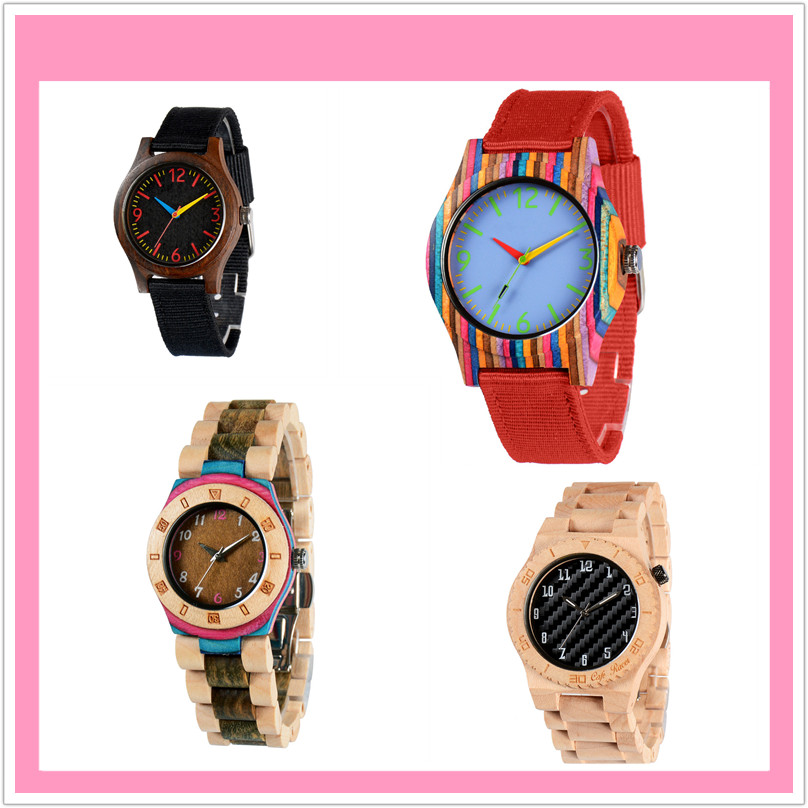 2018 colorful skate board wooden watch with custom logo