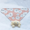 interlock fabric infant Kerchief Bibs with metal snaps