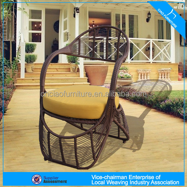 A - patio garden plastic wicker chairs round wicker lounge chair G-12CT