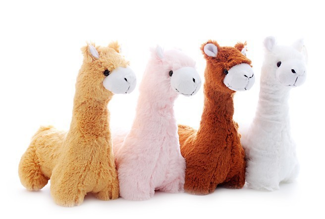 Factory Custom Giant Alpaca Plush Toy Colorful Alpaca
