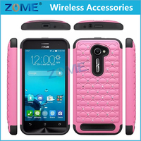 Supply Shiny Bling 2 in 1 Hybrid Dual Layer PC + Silicone Mobile Phone Case For ASUS ZenFone 2E