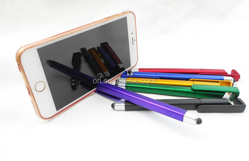 4 in 1 multifunctional ball pen + stylus touch + phone stand holder + screen cleaner pen