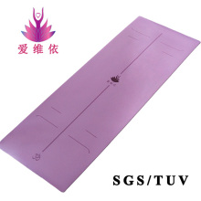 eco friendly non slip rubber yoga mat with position guide lines
