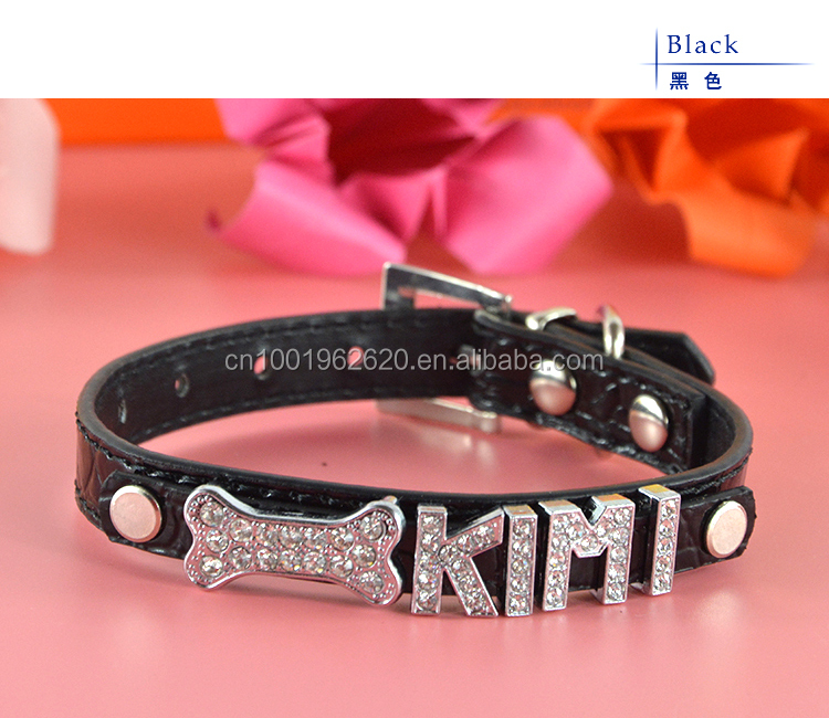Cheap Dog Collars With Name Plate