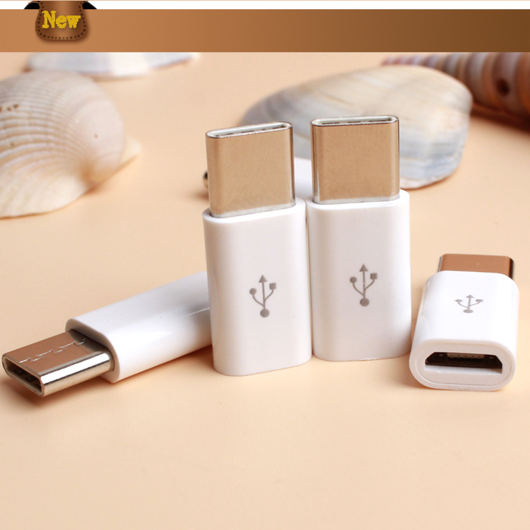 Fashionable Design Silver Data Transfer 3.0 Type C Male to Micro USB Converter Female Micro USB Adapter