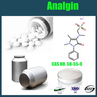 Good quality Analgin drugs, Metamizole sodium,Dipyrone, cas 68-89-3