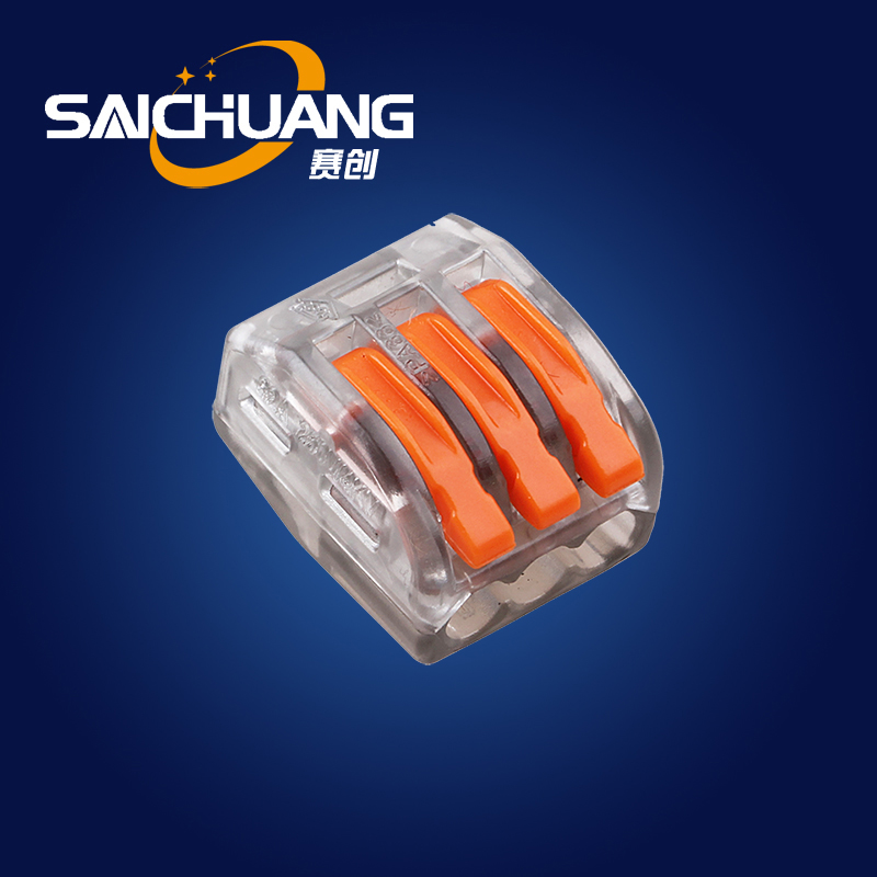 Hot sales push lock connectors quick connect elelctric wire connectors screwless terminal block wago