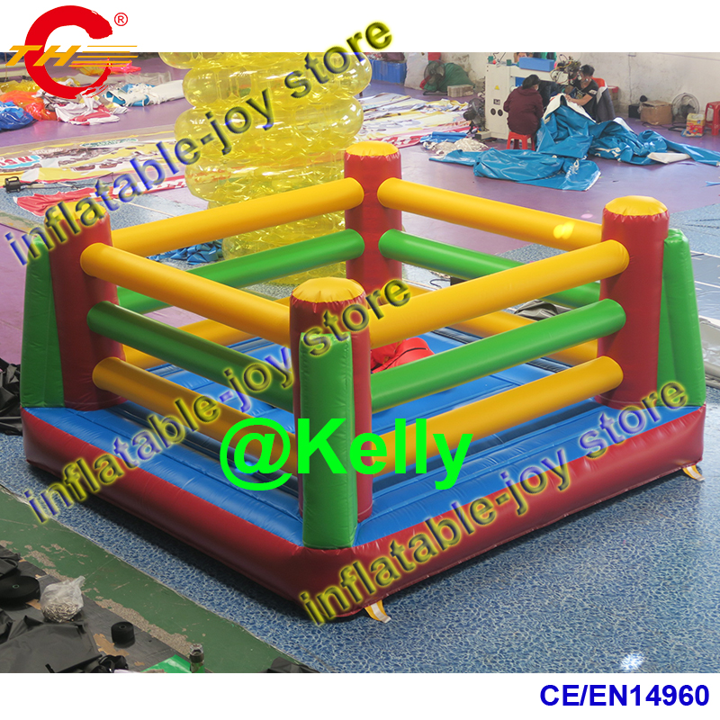 free air shipping inflatable boxing ring bounce house, Inflatable Wrestling Ring fighting Boxing Kids with 2 paris big gloves