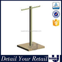 high quality metal T bar design display stand for t shirts