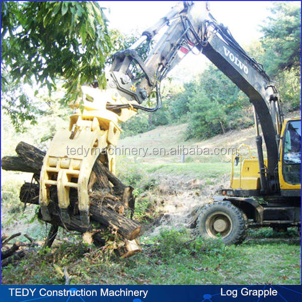 Imported motor used 26-33tons excavator hydraulic log grapple